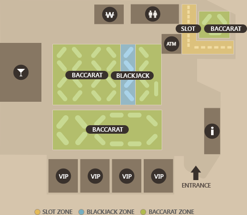 PARADISE CASINO PARADISE CITY FLOOR MAP