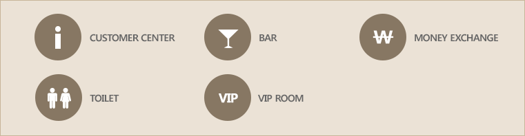 PARADISE CASINO JEJU GRAND FLOOR MAP2